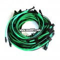 Corsair AX1200i Single Sleeved Power Supply Modular Cables + SATA Data Cables Set (Black/UV-Green)