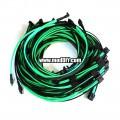 Corsair AX1200i Single Sleeved Power Supply Modular Cables + SATA Data Cables Set (Black/UV-Green)