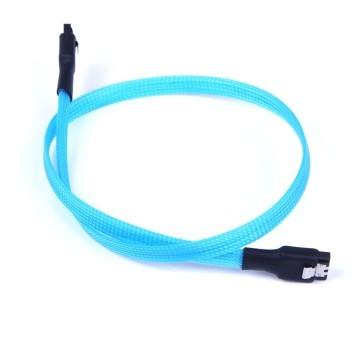 SAS/SSD High-Speed 6Gbps SATA3 SATA III Cable High Density Sleeved (UV Blue)