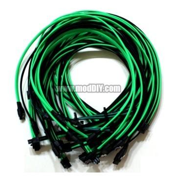 Corsair AX Series Single Sleeved Power Supply Modular Cables Set (Black / UV Green)
