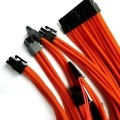 Corsair SF600 SF450 Custom Made Single Sleeved Modular Cable Set (Orange)