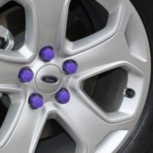 High Quality Silicone Car Wheel Hex Nuts Hub Screw Dust Covers (Purple)