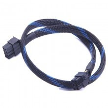 Sama PSU Power Modular 8-Pin to 6-Pin PCI-E Sleeved Cable (Black/Blue)