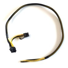 Open-End to Dual 8 Pin (6+2) PCI-E Sleeved Cable (70cm + 10cm)