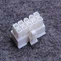 10-Pin PSU Modular Power Female Connector w/ Pins - White