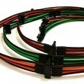 Premium Tailor-Made Single Sleeved 6-Pin to 4 x 90° SATA Modular Cable