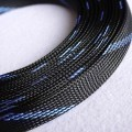 Deluxe High Density Weave Black/Blue Cable Sleeve (25mm)