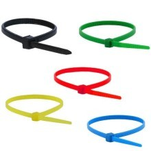 5 Colors 100mm Tie Wraps (100 Pack)