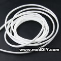 Deluxe High Density Weave White Cable Sleeve (4mm)