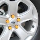 High Quality Silicone Car Wheel Hex Nuts Hub Screw Dust Covers (Orange)