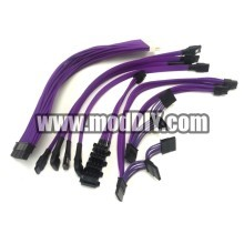 Silverstone SST-ST55F-G Premium Single Sleeved Modular Cables Set (Purple)