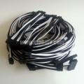 Seasonic Platinum SS-1000XP Single Sleeved Dual Power Supplies Modular Cables (Black/White)