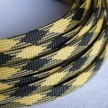 Deluxe High Density Weave Black/Yellow Cable Sleeve (10mm)