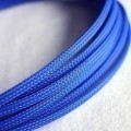 Deluxe High Density Weave Blue Cable Sleeve (5mm)