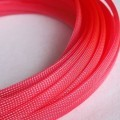 Deluxe High Density Weave UV Pink Cable Sleeve (10mm)