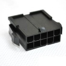 10-Pin Server Power Male Connector w/ Pins - Black