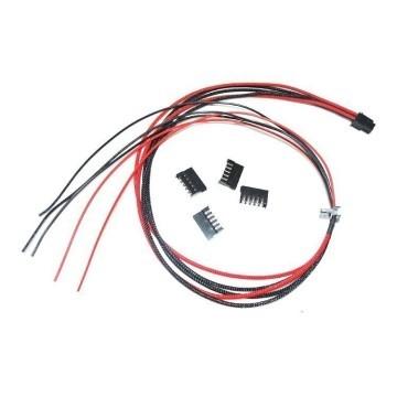 Seasonic X Series Modular Power Supply PSU Single Sleeved SATA x 5 Integrated Cables (Red/Black)