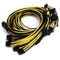 Seasonic Platinum Single Sleeved Modular Cable Set (Black/Yellow)