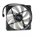 120mm Semi Transparent Black PWM Fan with 4 Blue LED