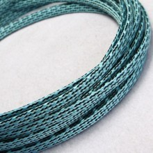 Deluxe PET PP Cotton Braided Sleeving (Light Blue 8mm)