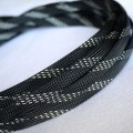 Deluxe High Density Weave Black/Silver Cable Sleeve (10mm)