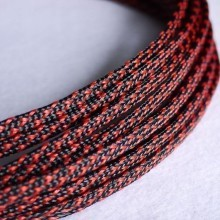 Deluxe High Density Weave Black/Red Cable Sleeve (6mm)