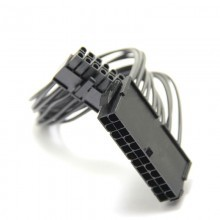 Premium Acer PSU Main Power 24 Pin to 12 Pin Adapter Cable All Black