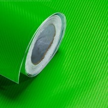 Light Green Carbon Fibre Sticker 3D Matt Dry Vinyl with Texture