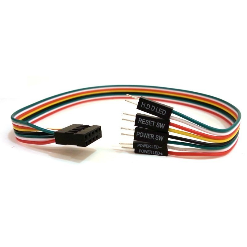 Power Reset SW Power HDD LED 10 Pin Internal Motherboard Cable
