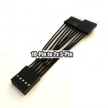 10-Pin USB/AC97/HD-Audio Internal Header to Dual 5-Pin Y Cable (5cm)