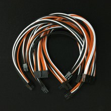 Corsair Premium Single Sleeved Modular Cable Set (Black/Orange/White)