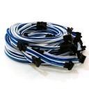 Antec HCP-1300 Single Sleeved Premium Modular Cables (Blue/Light-Blue/White)