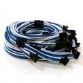 Antec HCP-1300 Single Sleeved Premium Modular Cables (Blue/Light-Blue/White)