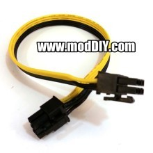 6 Pin to 6 Pin PSU Modular PCIE Cable (Black/Yellow Ribbon Wire)