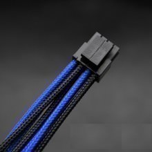 Premium Single Braid Sleeved CPU 8-Pin (4+4) Extension Cable (Black/Blue)