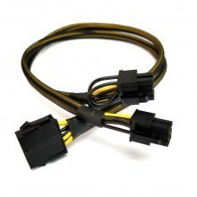HP ProLiant DL180 Gen6 10 Pin to 8 Pin and 6 Pin GPU PCIE Power Cable