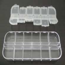 12 Compartment Transparent Plastic Parts Box