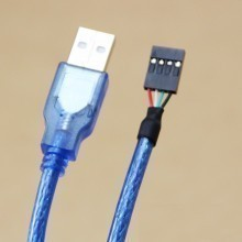 USB Type-A Male to USB 4-Pin Female Header Cable