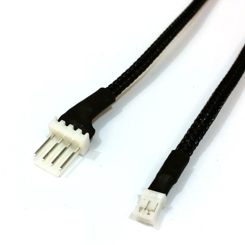 4-Pin Standard Fan Connector (Male) to Mini 2-Pin GPU Fan Connector ...