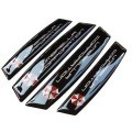 Car Door Edge Guards Anti-collision Scratch Protection Strip Bumpers (Umbrella Corporation Black)