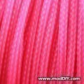 Deluxe High Density Weave UV Pink Cable Sleeve (8mm)