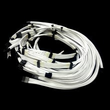 Corsair AX1200 Premium Single Braid Modular Cables Complete Set (White)