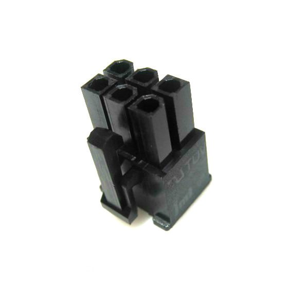 Black 4 Pin Female CPU|EPS Connector w// Pins