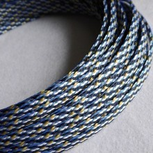 Deluxe PET PP Cotton Braided Sleeving (Black/Yellow/White 4mm)