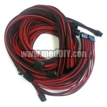 Seasonic Single Sleeved Power Supply Modular Complete Cables Set (Black/Red)