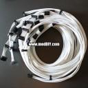Corsair Power Supply Custom Single Sleeved Modular Cables (All White)
