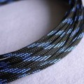 Deluxe High Density Weave Black/Blue Cable Sleeve (3mm)