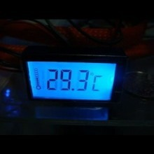 LCD Digital Thermometer w/ Blue LED Backlight