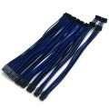 Corsair HX1000i Premium Single Sleeved Modular Cables (Black/Blue)