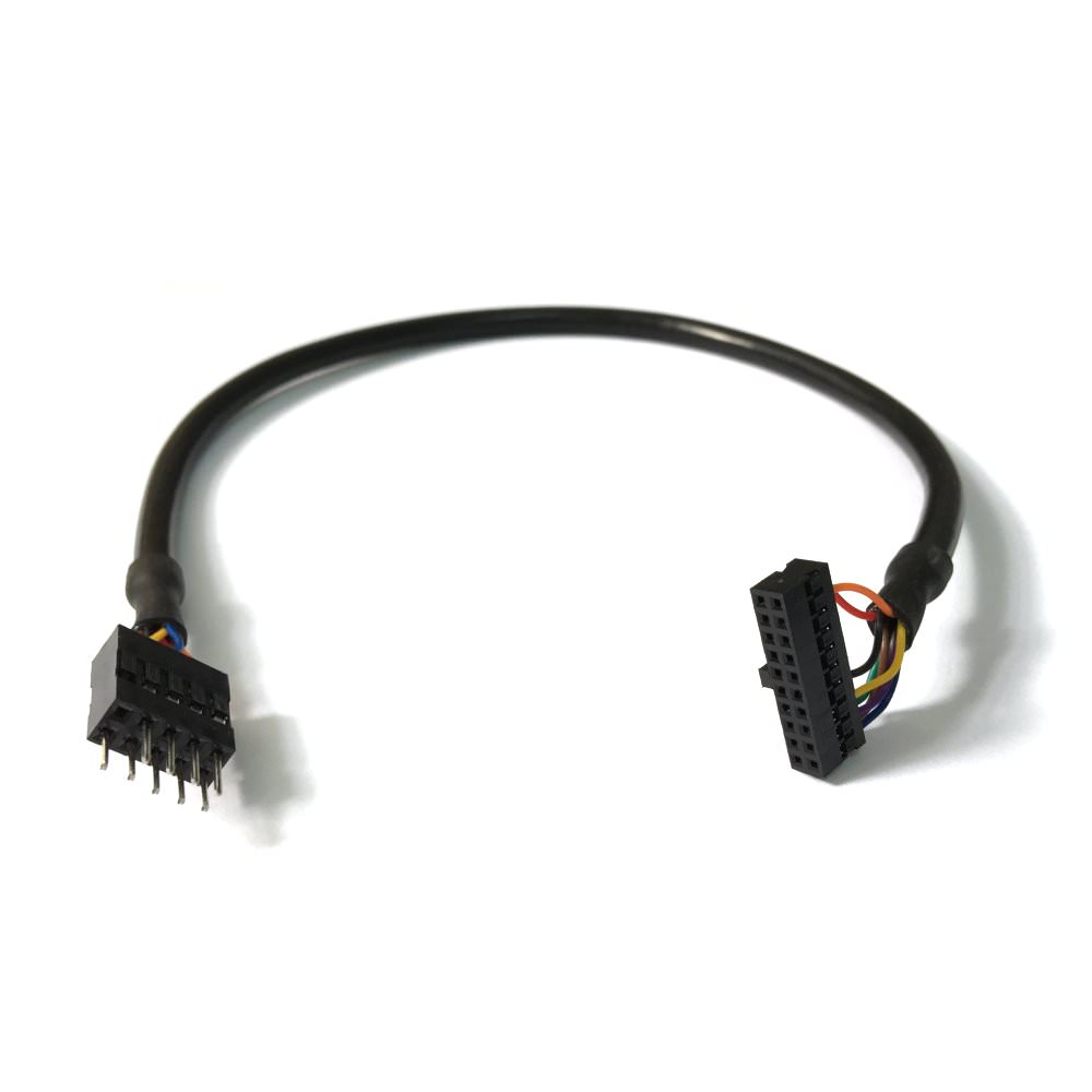 USB 2 0 9-Pin Male to USB 3 0 20-Pin Female Low Profile (30cm)